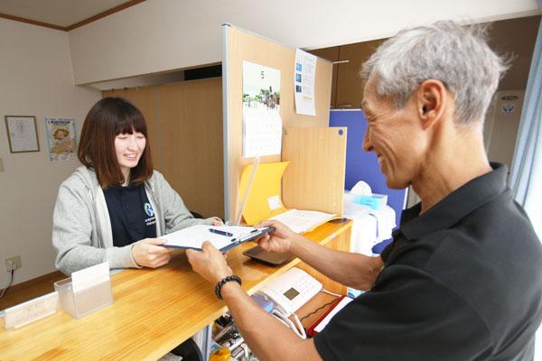 問診表の記載、視診